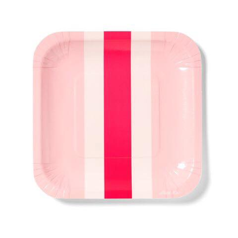 Pink stripe plate - Little Kite