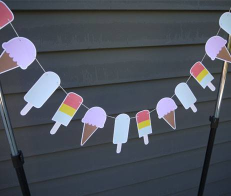 Ice-cream and popsicle Garland - Small Favours