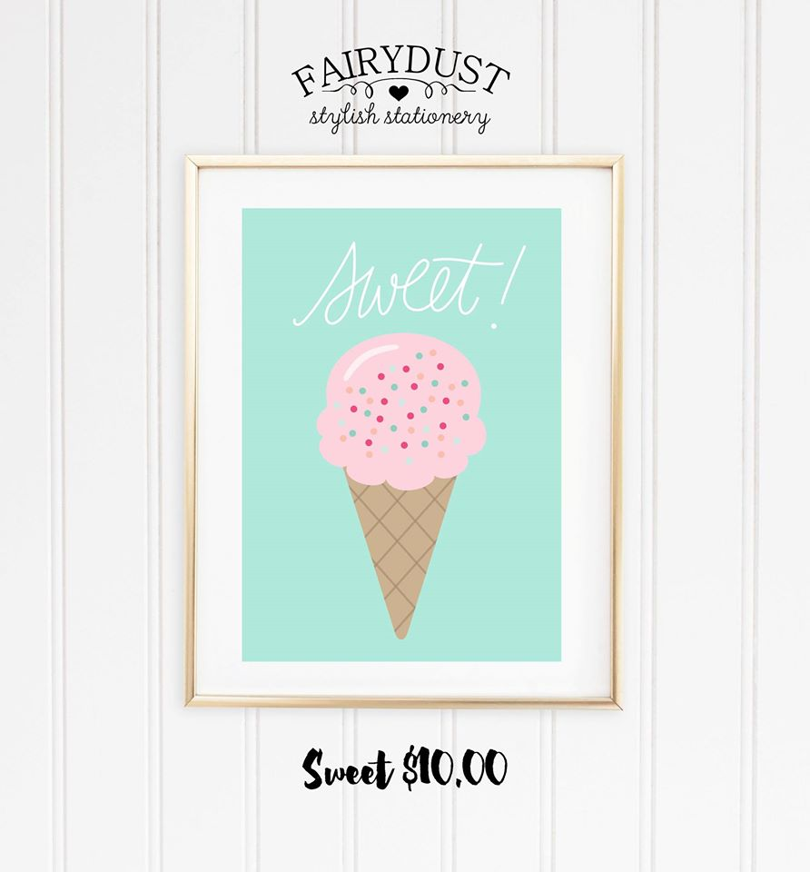Ice- cream print - Fairy Dust Stylish Stationery