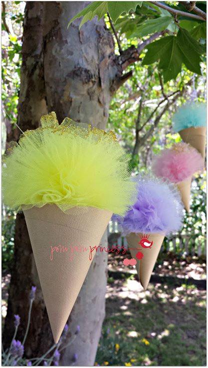 Ice Cream pom pom garland - Pom Pom Princess