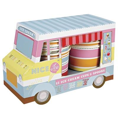 Ice cream van and cups - Ruby Rabbit Partyware