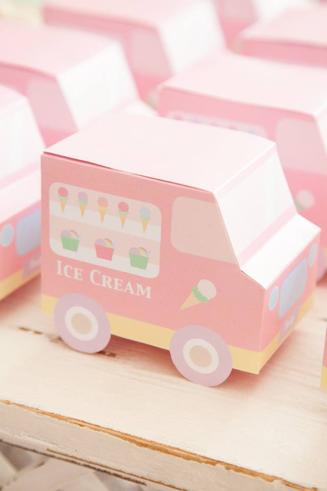 Ice cream truck favour box printable - Jo Studio