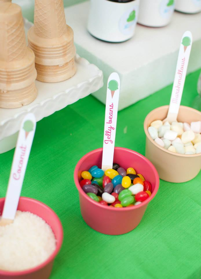 Personalised ice cream spoons - Bespoke Party Products