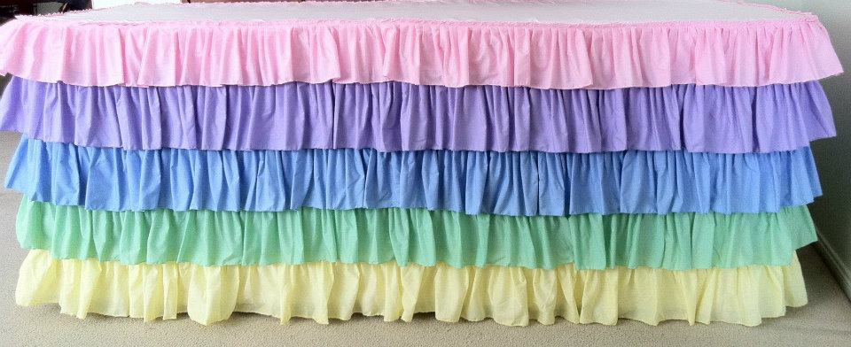 Pastel ruffled tablecloth - Saffy and May