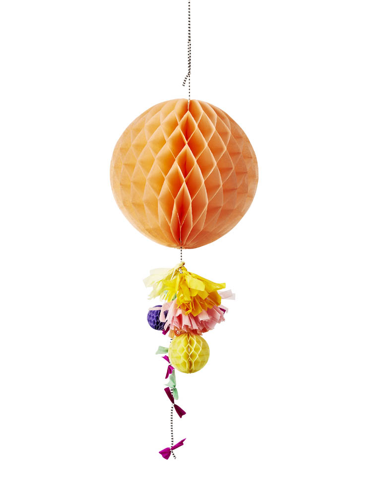 Peach honeycomb fancy decoration - Poppies For Grace