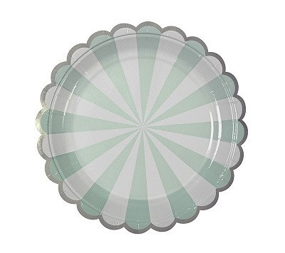 Aqua stripe plate - Love The Occasion