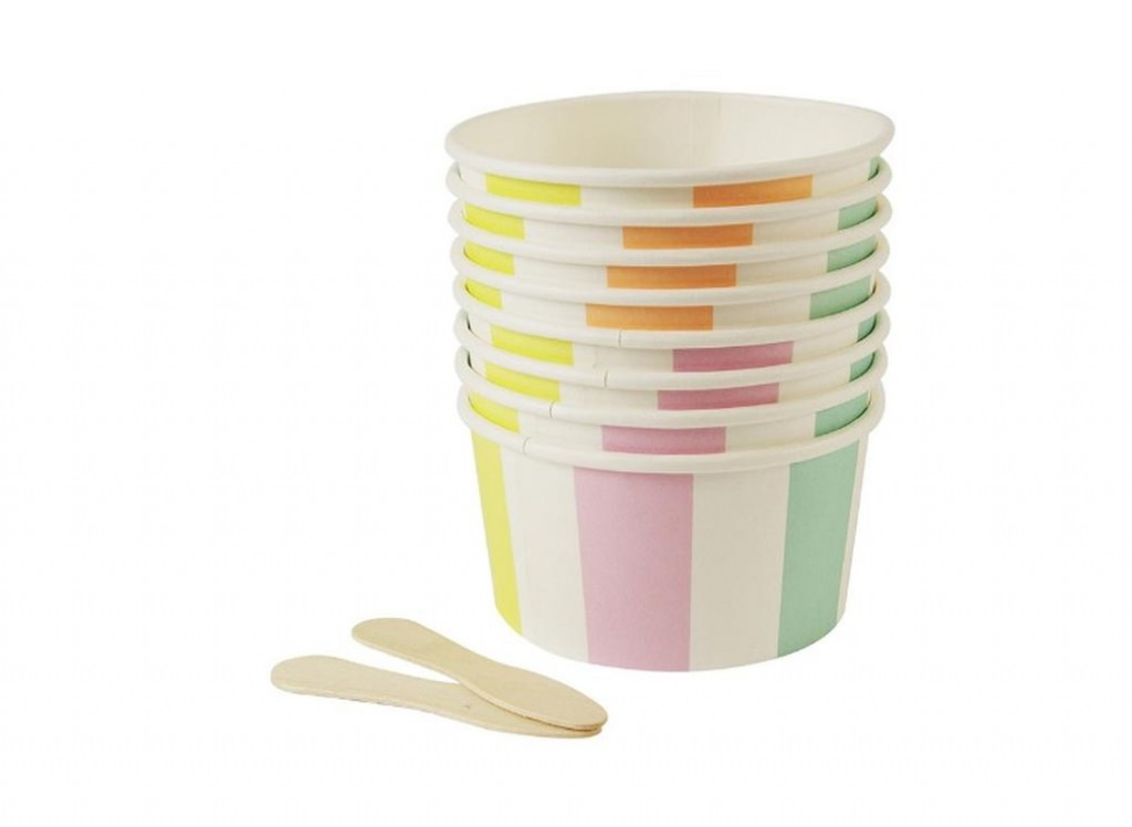 Pastel stripe ice-cream cups - Love The Occasion