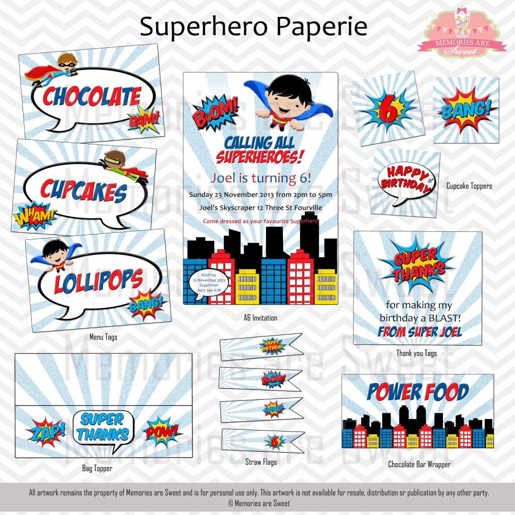 Superhero Paperie - Memories are Sweet