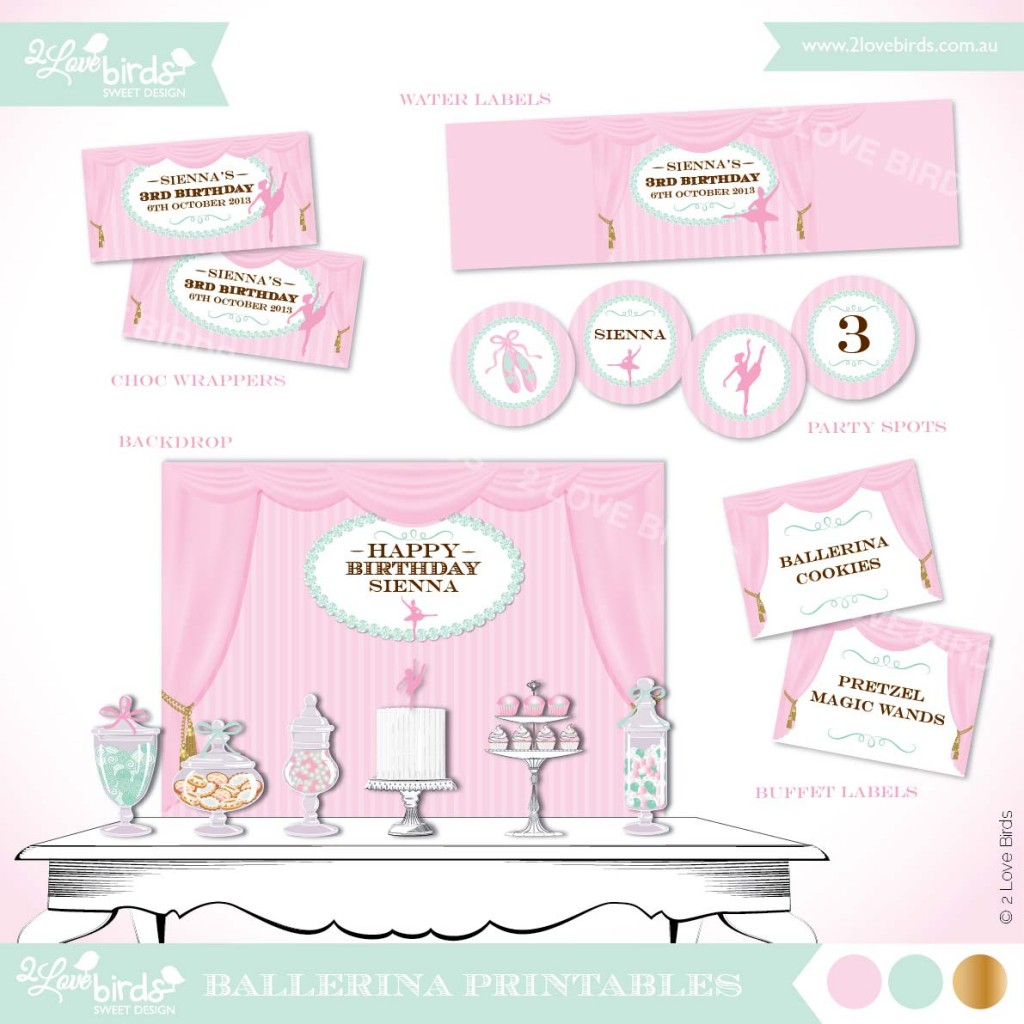 Uncategorized Ballerina Printables ballerina theme lifes little celebration 2 love birds printables