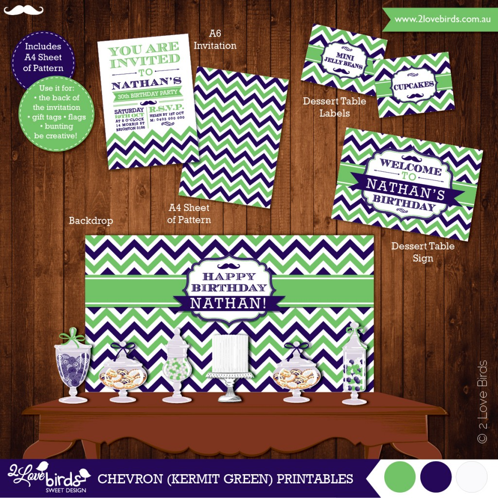 2LoveBirds_Chevron_Green_Printables