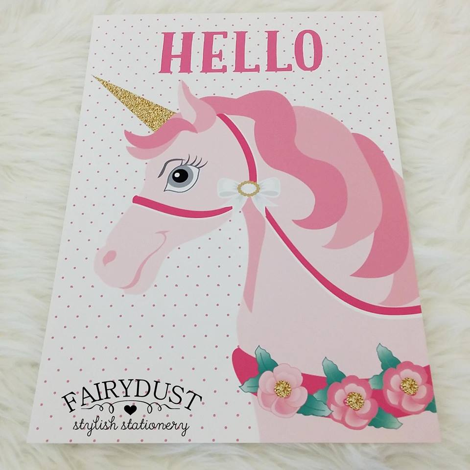 Unicorn print - Fairydust Stylish Stationery