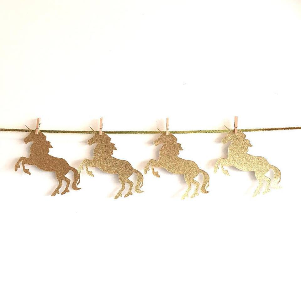 Unicorn garland - Sugarlicious Parties