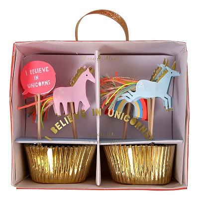 Unicorn party cupcake kit - Ruby Rabbit Partyware