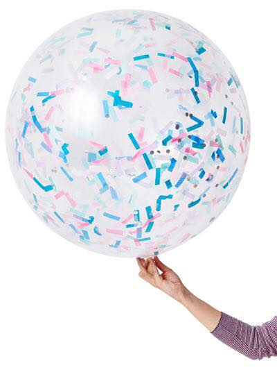 Jumbo unicorn confetti balloon - Favor Lane