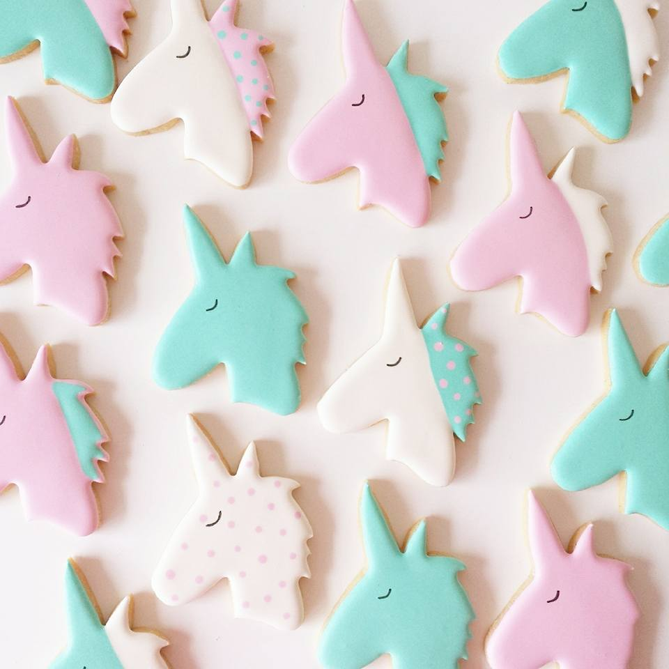 Unicorn cookies - Frosted by Nicci Melbourne
