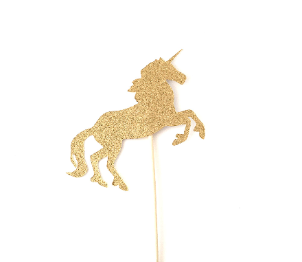 Unicorn cupcake or cake topper - Sugarlicious Parties