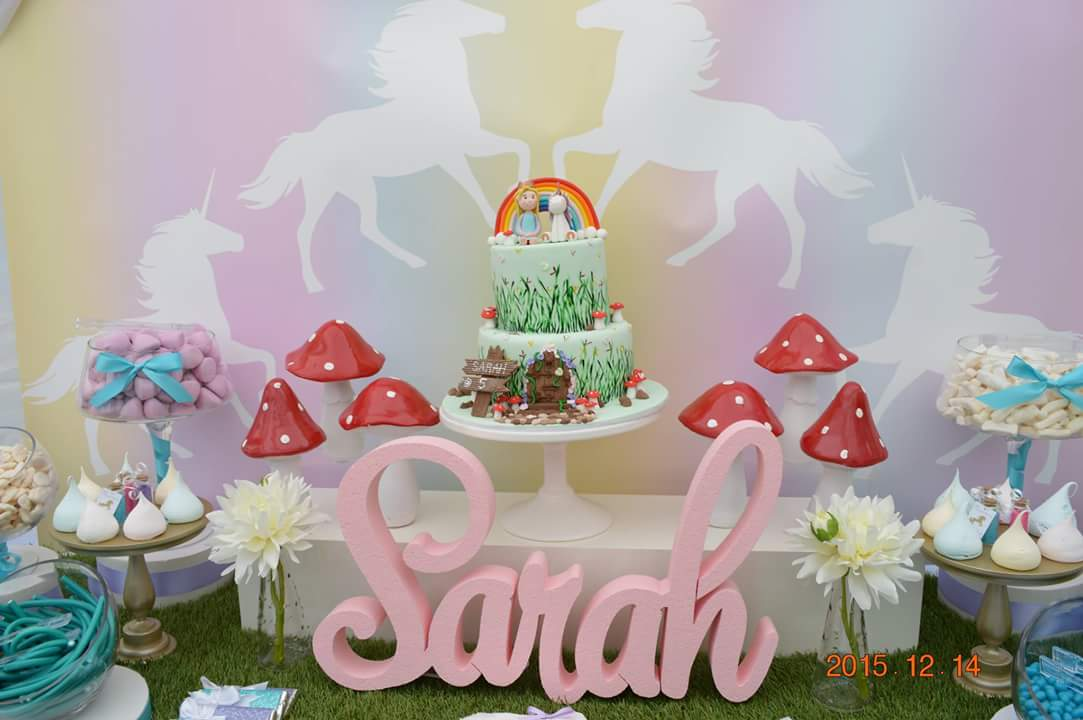Unicorn party backdrop - Jo's Signs by Design