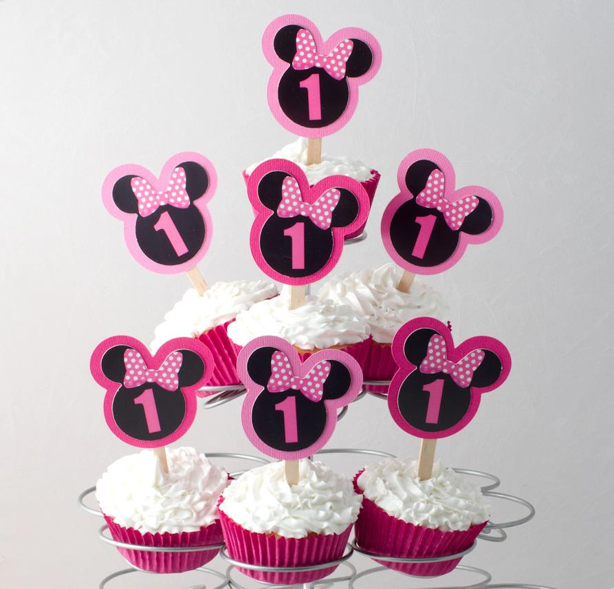 Minnie Mouse toppers - Sweetheart Party Extras