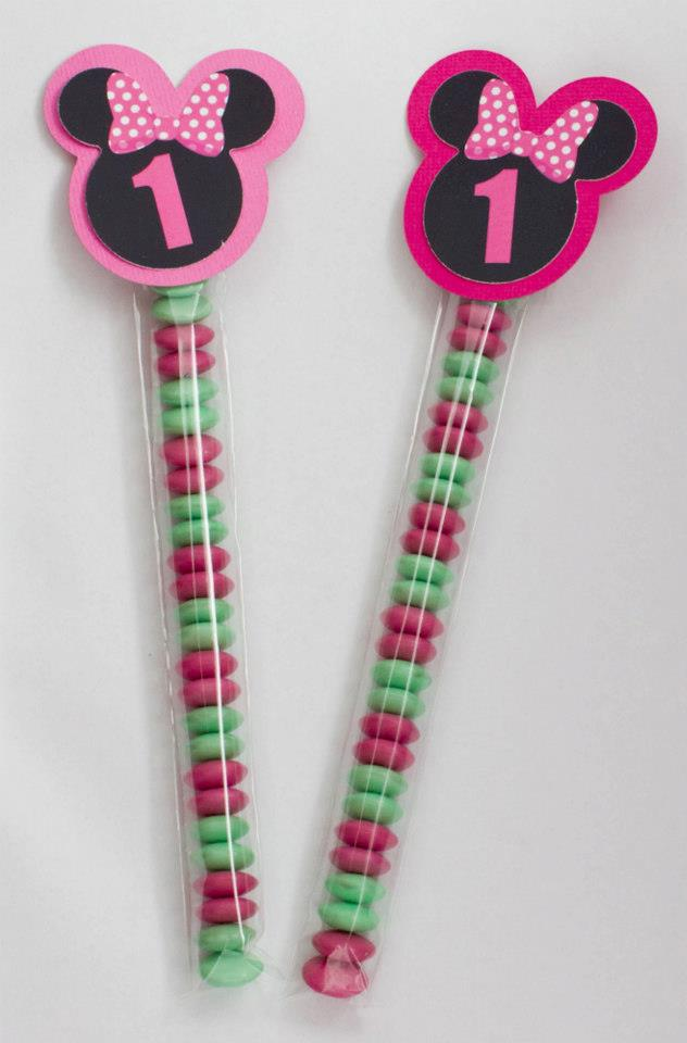 Minnie Mouse favour tubes - Sweetheart Party Extras