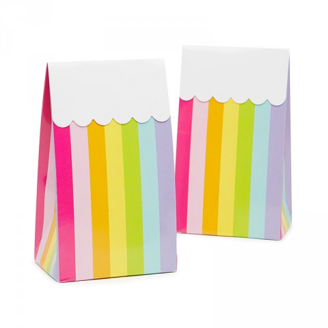 Rainbow party bags - Emiko Blue