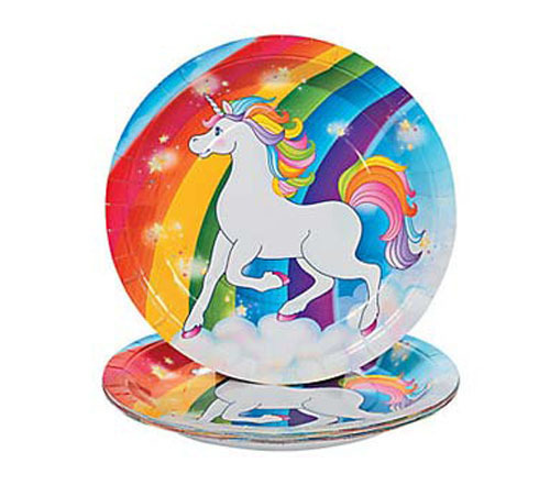 Unicorn party plates - The Little Big Company