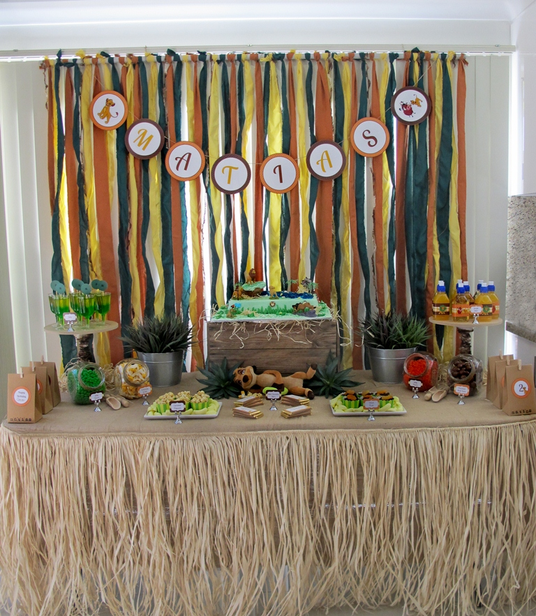 STDE Lion King 2nd Birthday - Dessert Table