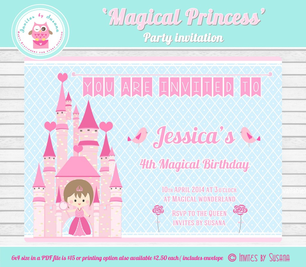 Magical princess invitation - Invites by Susana