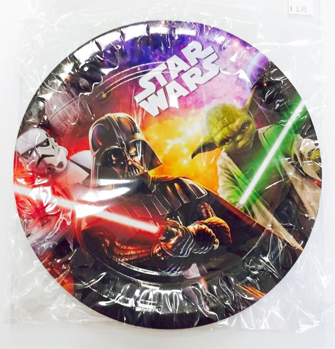 Star wars plates - Party On