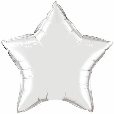 Silver star balloon - Ruby Rabbit Partyware