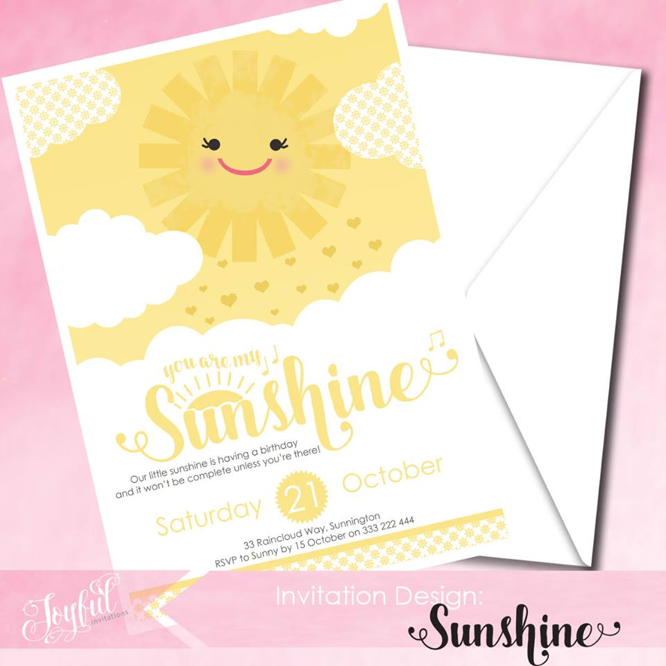You are my sunshine invitation - I Will Invitations