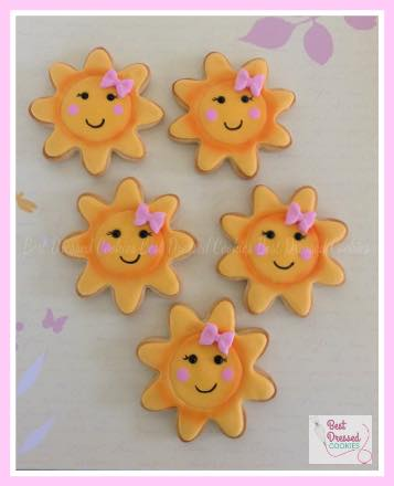You are my sunshine cookies - Best Dressed Cookies