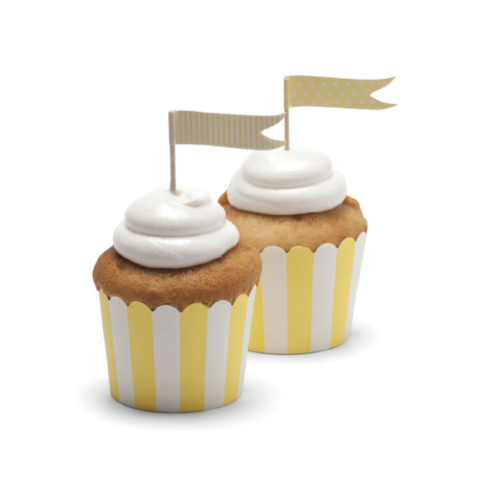 Yellow baking cups - Little Kite