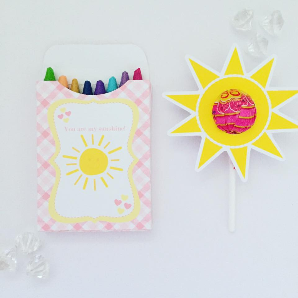 You are my sunshine party favours - Glitter and Glue Designs