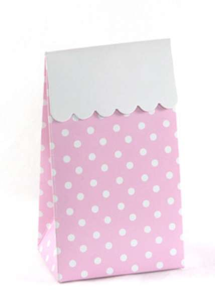 Sambellina pink spot favour bags - The Party Parlour
