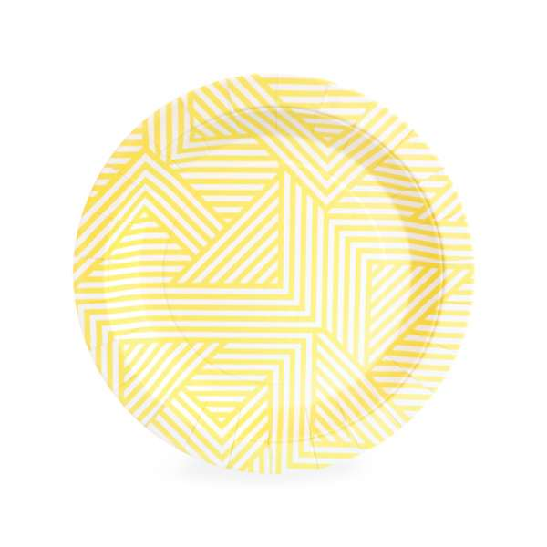 Paper Eskimo hello yellow party plate - The Party Parlour