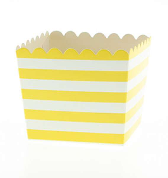 Yellow scallop favour box - The Party Parlour