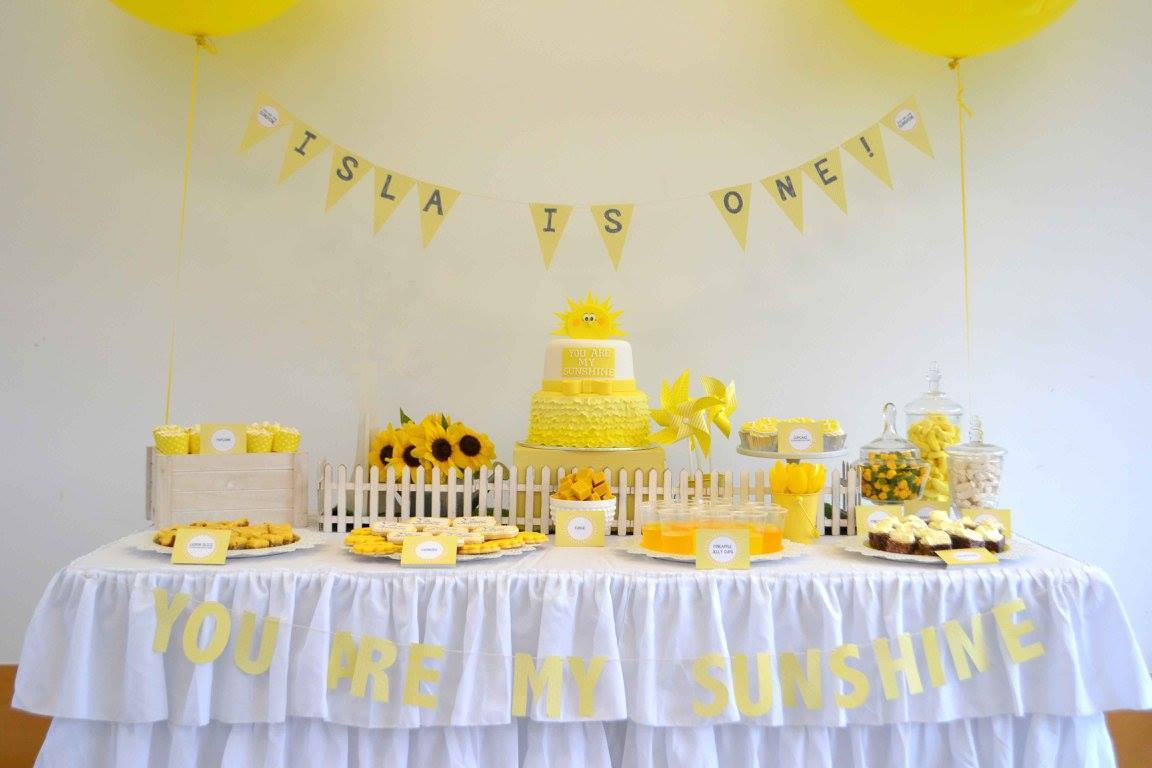 You are my sunshine party - Styling and printables by Parties & Prints (Perth)