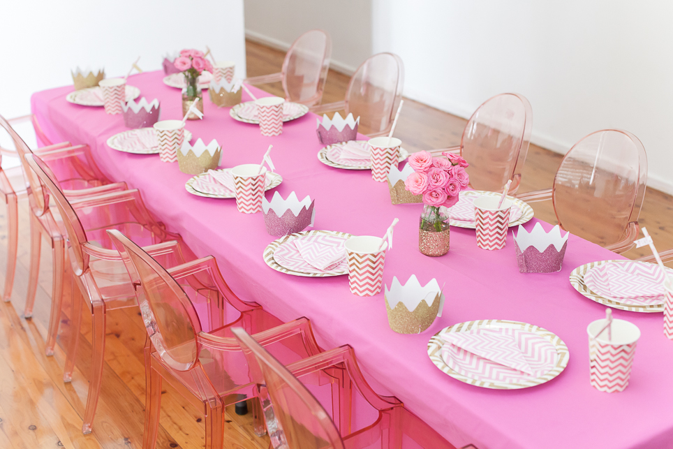 Rebekahs Pink And Gold Princess Party Lifes Little Celebration