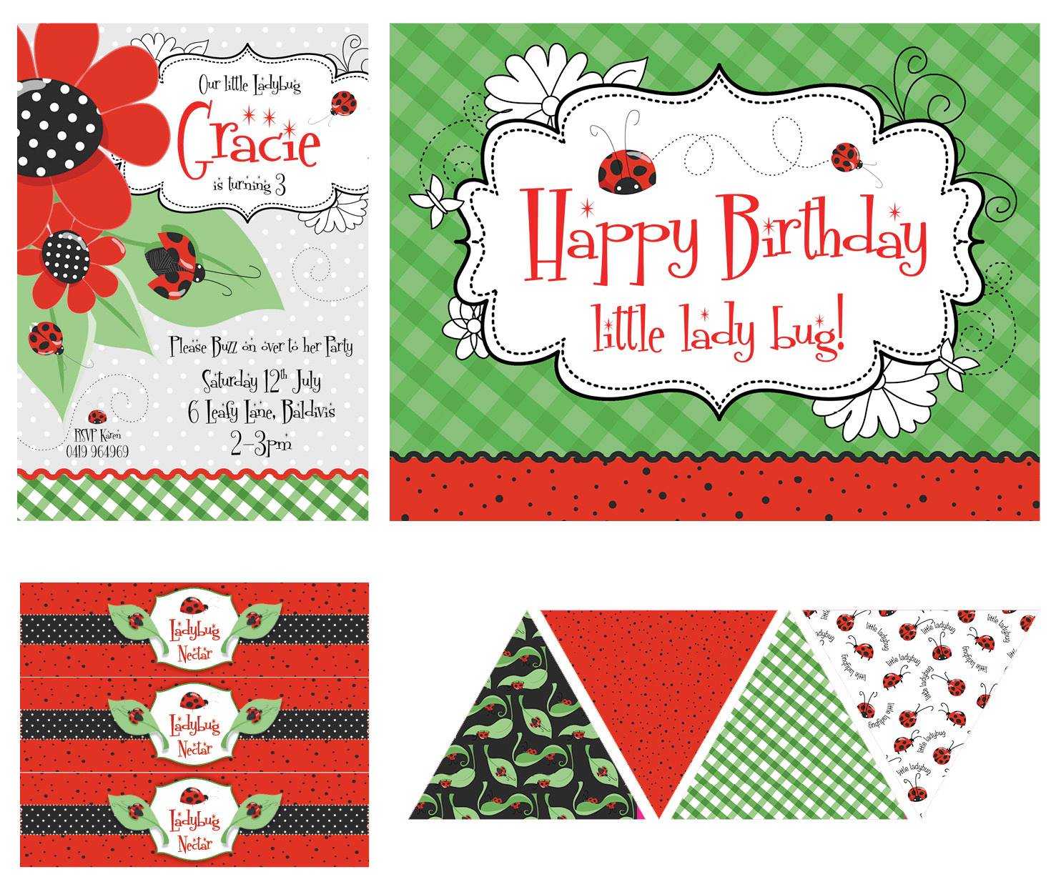 Lady bug party printables - Dream a Little Dream