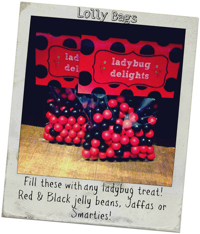 Ladybug lolly bags - Matchie Matchee