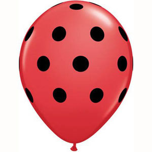 Polka dot red and black balloons - Party & Co
