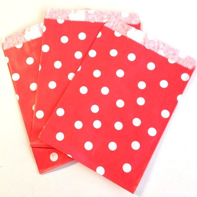 Red polka dot favour bag - Ruby Rabbit Partyware