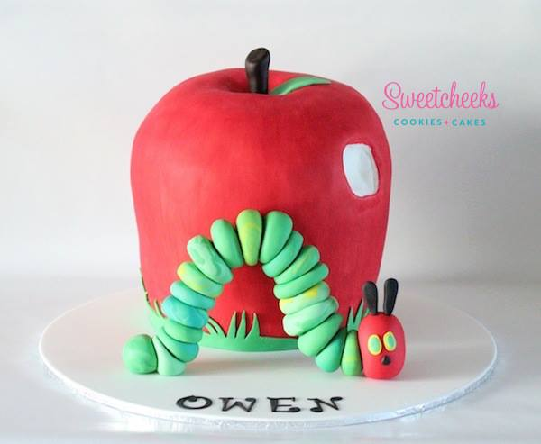 Hungry Little Caterpillar cake - Sweetcheeks Cookies and Cake