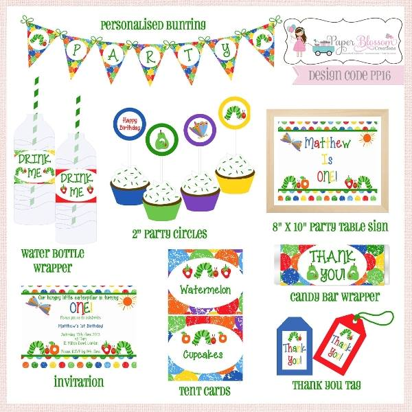 Hungry Caterpillar printables - Paper Blossom Creations