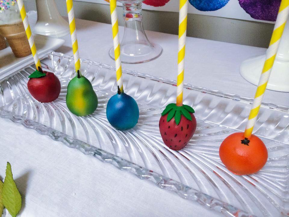 Hungry Little Caterpillar cake pops - NikNak's Sweetest Treats