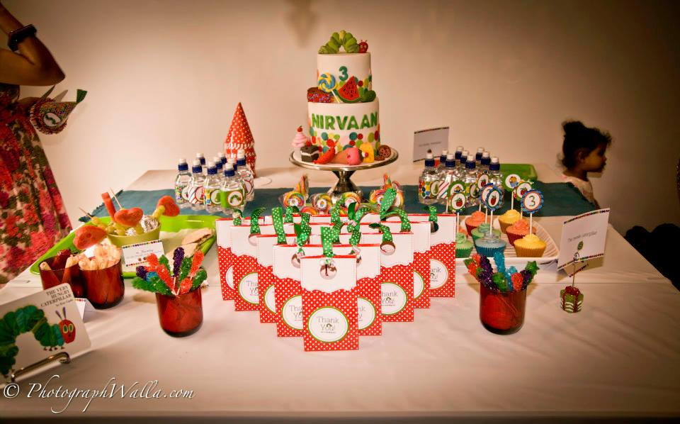 Hungry Caterpillar dessert table - The Pumpkin Carriage (Sydney)