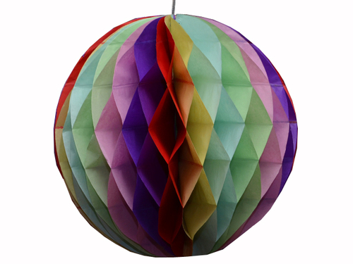Rainbow honeycomb lantern - Party and Co