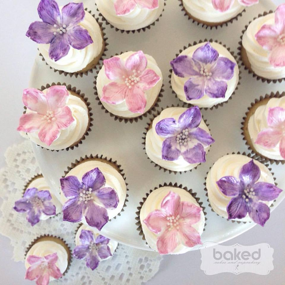 Floral cupcakes - Baked Cakes and Cupcakery (Brisbane)