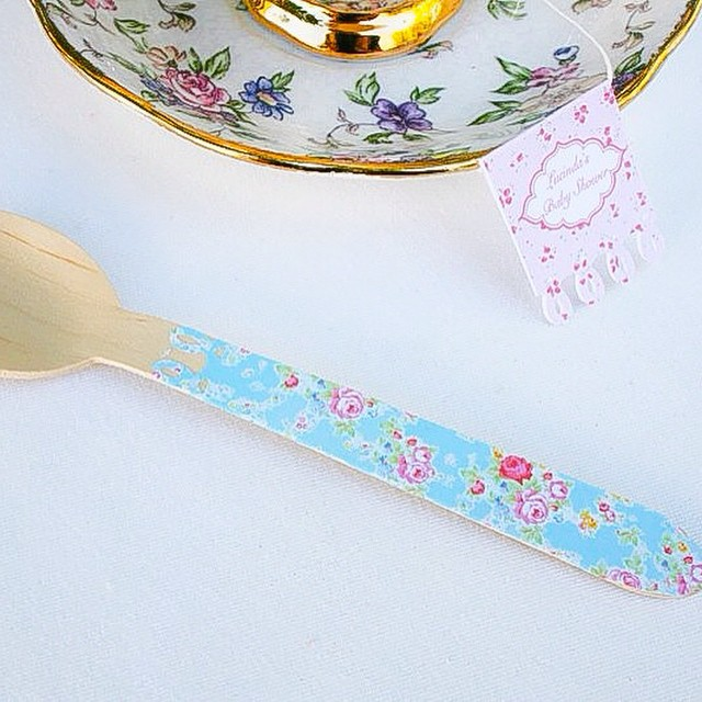 Floral party spoons - Bespoke Party Products