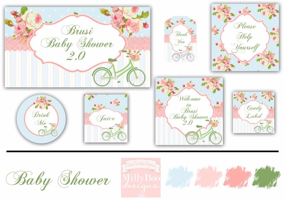 Floral party printables - Milly Boo Designs